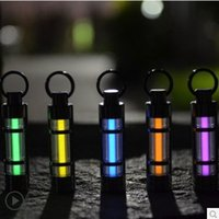 Wholesale Titanium Alloy Tritium Gas Lamp Fluorescent Tube Self luminous Yeas Key Ring Rescue Emergency Outdoor Light