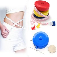 Wholesale Hot Style Retractable Ruler Tape Measure inch Sewing Cloth Dieting Tailor cm Color Randomly