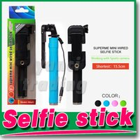 Wholesale Handheld monopod selfie sticks pen pocket foldable portable Extendable super supreme mini Wired selfie stick mini1 z07 s groove gopro