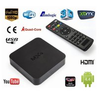 Wholesale Original Online Update MXQ TV BOX Amlogic S805 QuadCore Android4 Airplay TV Channels Programs Media Player KODI15 goodmemory