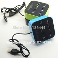 active usb hub - 3PCS USB All in One Multi Card Reader with Port Hub Combo SD MS M2 vQWDL