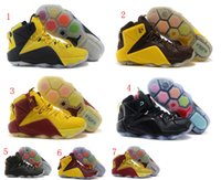Wholesale colors new mens cheap name brand james lebron XII Data Cleveland forgiven for6iven shoes sneakers for sale