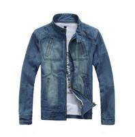 Wholesale New Big Size XL tops cotton Sport Men s jeans Jacket coat outerwear Winter coat denim jacket coat cowboy wear MX002
