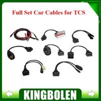 Wholesale 2015 Professional TCS Diagnostic Full Set TCS Car Cables OBD OBDII Diagnostic Connector For Multi Brand Cars