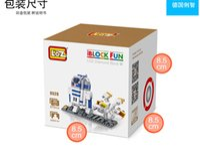 Wholesale 200pcs Star Wars Darth Vader D2 R2 Princess Mini Diamond Building Blocks Action Figure D Brick education toys kids toys