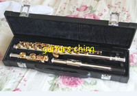 Wholesale 2015 New Professional Flute Matte gold holes carved flute Perfect CTE from china with case