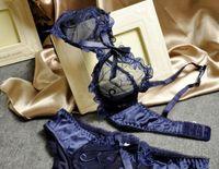 panties and bras - 2014 Sexy Bra Set Women Underwear Set Conjuntos Lace Bras Transparent Sapphire Blue Sexy Lingerie Embroidery Bra and Panties