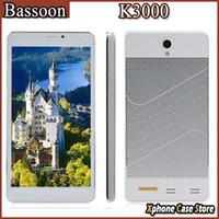 Bassoon K3000 4.4 Android de 7 pulgadas 3G llamada telefónica teléfono Tablet PC MT6572 Dual Core 1GHz Dual SIM WCDMAGSM GPS WiFi FM Bluetooth