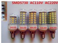 Wholesale SMD5730 Corn LED Bulb W24LED W36LED W48LED W56LED W69LED LED Bulb with Cover for Household Living Room LED light Bulbs