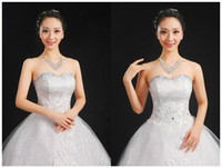 Wholesale Custom Plus Size Wedding Dress Lace Vintage Tulle Ball Gown Cheap Wedding dresses Bridal Gown