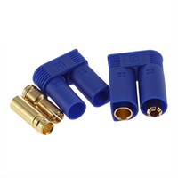 Cheap DIY 1 Pair EC5 Bullet Connectors Plugs Adapters Male  Female 5mm For RC Lipo Battery Plug Christmas Gift 6LSR