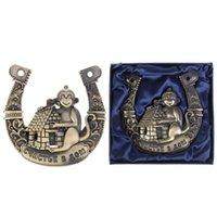 Wholesale 2016 new monkey Horseshoes quot Happy House quot Horseshoe home wedding decoration metal gift craft horseshoe nose ring