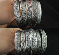 antique totem - 2016 Antalya Bangles Antique Silver plate Mixed Pattern Statement Boho Coachella Festival Turkish totem jewelry Tribal Ethnic