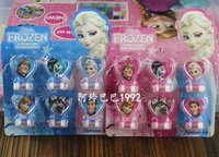 Wholesale Frozen Anna Elsa Stamper Set Cartoon Character Princess Stamp New Novelty Toy Gifts set Stamps