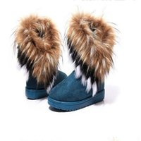 Wholesale Women Ankle Boots Fashion Winter Snow Boots Women Suede Fur Snow Boots Winter Flat Shoes Boots for Woman