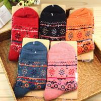 100 % wool socks - 2015 Wool socks Ms Korean winter socks wool socks retro national wind socks China factory direct Factory Hot