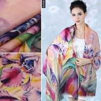 Wholesale Miao be upscale Charles genuine winter painting printing oversized cashmere scarf shawl original single female models
