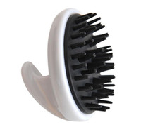 bamboo dog brush - 6155 Fashion pet dog Bamboo charcoal teeth bath brush Massage pet comb pet brush