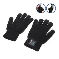 Wholesale Bluetooth V3 EDR Talking Gloves Screen Touch Gloves for Smart Phones with LED Indicator Light and Charging Port PA2064