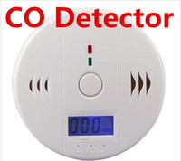 battery smoke detectors lot - CO Carbon Monoxide Detector Smoke Home Alarm Safety Gas Fire Poisoning Warning Alarm Sensor Battery Operated Alert LED Display