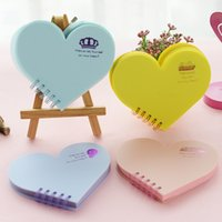 Wholesale Korean Stationery Kawaii Heart Shaped Mini Notepad Loose Leaf Notebook Paper Memos