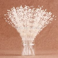 Wholesale Pearl Flower bundle bundles mm White Ivory Pearl Sticks Wedding Decoration Bouquet Cakes Accessory For DIY