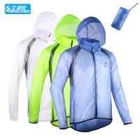Wholesale ARSUXEO Outdoor Sports Waterproof Coat Bike Cycling Jacket for Men Running Climbing Raincoat Windproof Cycling Jersey