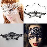 adult school wear - White Black Lace Party Marks for Christmas Cheap ps ps Masquerade Valentine s Day Wear High Quality Female Wedding Birthday Masks MJ003