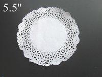 Wholesale 500pcs White lace paper round shape Paper Doily cake food paper pad