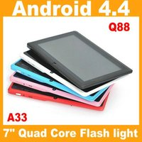 Wholesale New Cheap inch Q88 A33 quad core Tablet PC Capacitive Screen Android tablet M G Dual camera Allwinner A33 tablet pc PB7 Q8L