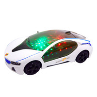 Wholesale Music Glow Electric Car Model Toy Collision Steering Function Christmas Birthday Gift for to Years Children