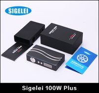 mechanical mod - 100 Original Sigelei Plus W Mod E Cigarette Mod Variable Wattage Box Mod Mechanical Mod Fit Battery VS Sigelei W IPV V2