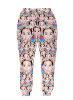 Wholesale New Women men funny joggers Print many Miley Cyrus d pants long trousers sweatpants Hip Hop women sports running jogging