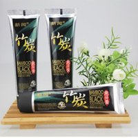 Wholesale Black bamboo charcoal toothpaste g teeth whitening brightening fresh Super Clear suppress bleeding gums teeth stains