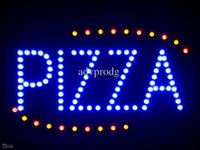 business open sign - nled008 b Pizza Shop OPEN LED Neon Business Light Sign quot x quot