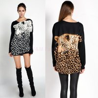 cotton polyester shirts - Plus Size Fashion Womens T shirts Tiger Leopard Eagle Print Long Sleeve O Neck Cotton Bottoming T shirt Tops Blouses SV009760