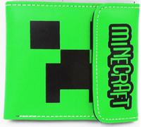 Minecraft pu figura del anime kawaii Monedero billetera de cuero de la hebilla del monedero regalos de cumpleaños Niños y niñas cartera