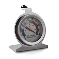 used refrigerators - Cheap Temperature Instruments Stainless Steel Dail Dial Type Metal Thermometer for Refrigerator Fridge Kitchen Freezer Use