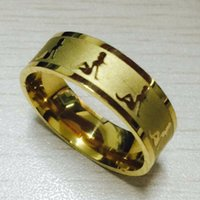beauty alliance - European Fashion mm sexy girls Rings K gold plated L Titanium Steel solid beauty ring women men alliance