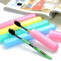Wholesale 2015 New Trendy Travel Hiking Camping Toothbrush Protect Holder Case Box Tube Cover