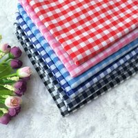 Wholesale Plaid cotton fabric gingham shirt fabric meter price