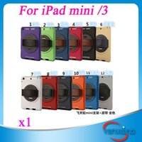 Wholesale CHpost pc flying wheel Hand strap Rotating Stand PC silicone hybrid Case Cover For ipad mini retina ZY PD