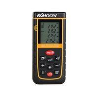 Wholesale KKMOON Handheld m ft Digital Laser Distance Meter Range Finder Measure Distance Area Volume Self calibration Level Bubble