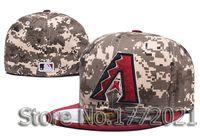 az cotton - Men s AZ baseball sport team hats digital camouflage full closed design Arizona Diamondbacks fitted caps