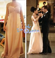 Wholesale Custom Made Simple Prom Dresses A Line Sweetheart Floor Pink Maid in Manhattan Crisscross Ruched Bust Chiffon Celebrity Evening Party Gown