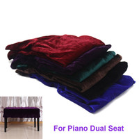 bench with seat - New Universal Beautiful Piano Stool Chair Bench Cover Pleuche Decorated with Macrame cm for Piano Dual Seat Bench order lt no track