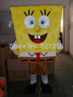 Wholesale real picture high quality Spongebob Costumes Sponge bob Mascot Costume Spongebob Fancy Costume Halloween Sponge bob Carnival Costume F