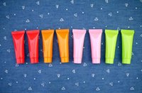 empty lotion bottles - 10ML Personal care empty colorful plastic tube cosmetic cream lotion containers perfume body lotion bottle Free DHL EMS