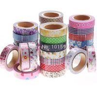 Wholesale 10pcs Adhesive tape masking DIY tape Decorative tape Scrapbooking sticky Stationery School supplies