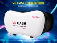 Wholesale VR CASE Head Mount Plastic VR BOX Version VR Virtual Reality D Glasses Rift Google Cardboard D Movie for quot quot Smart Phone